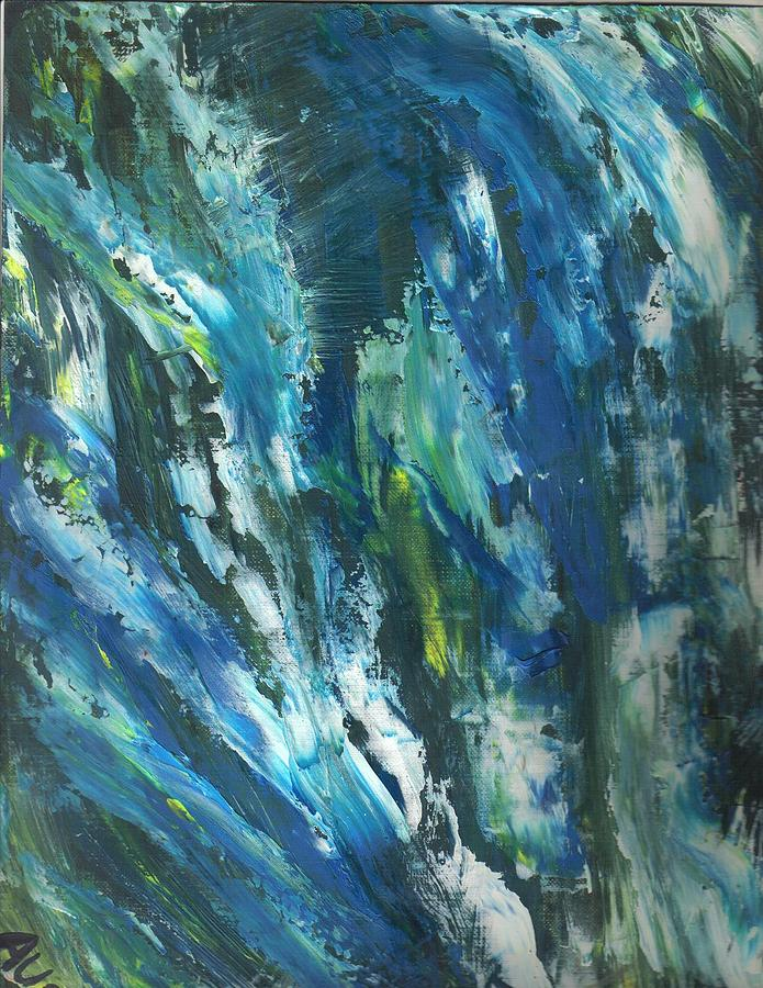 Blue Painting by Michelle Aubin