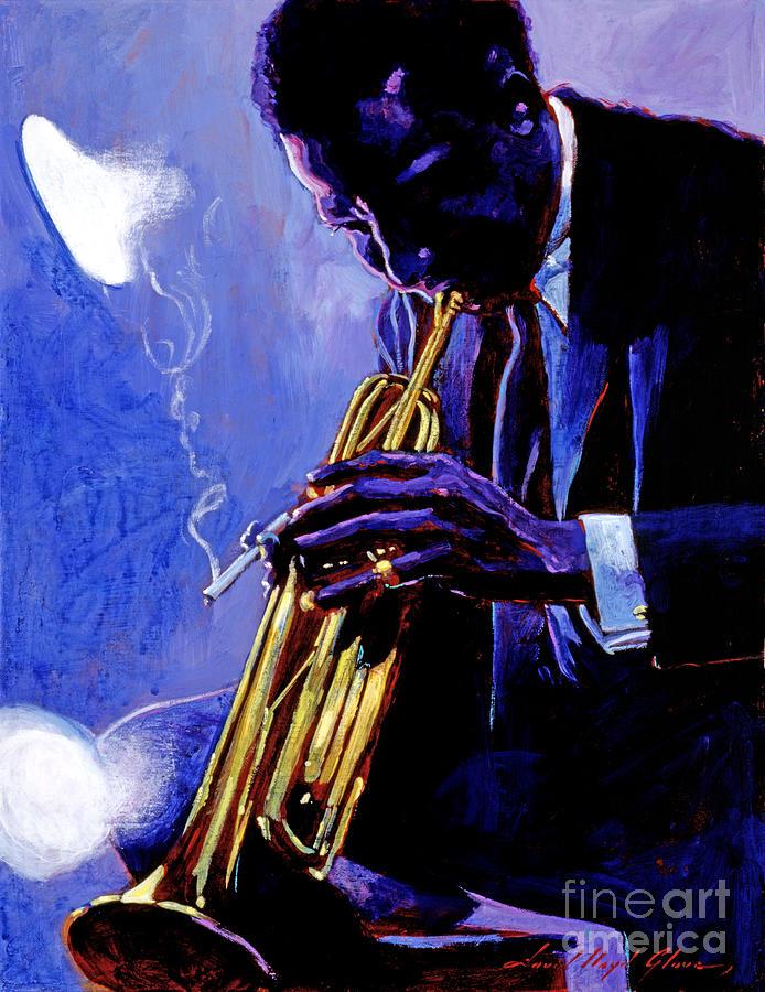 Miles Davis Painting - Blue Miles by David Lloyd Glover