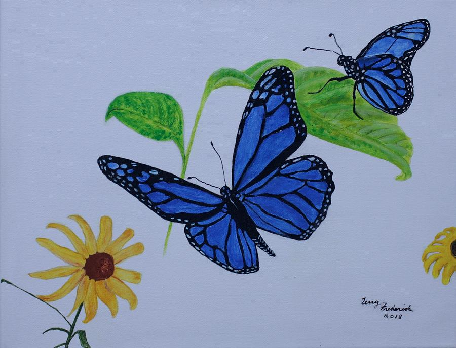 Blue Monarch by Terry Frederick