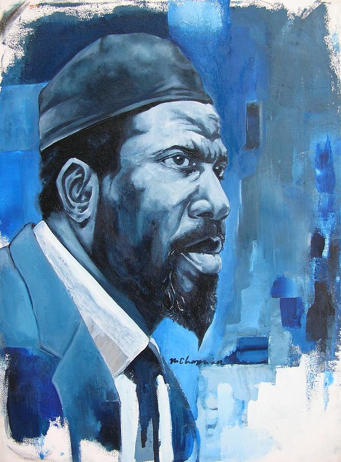 Blue Monk Painting by Martel Chapman