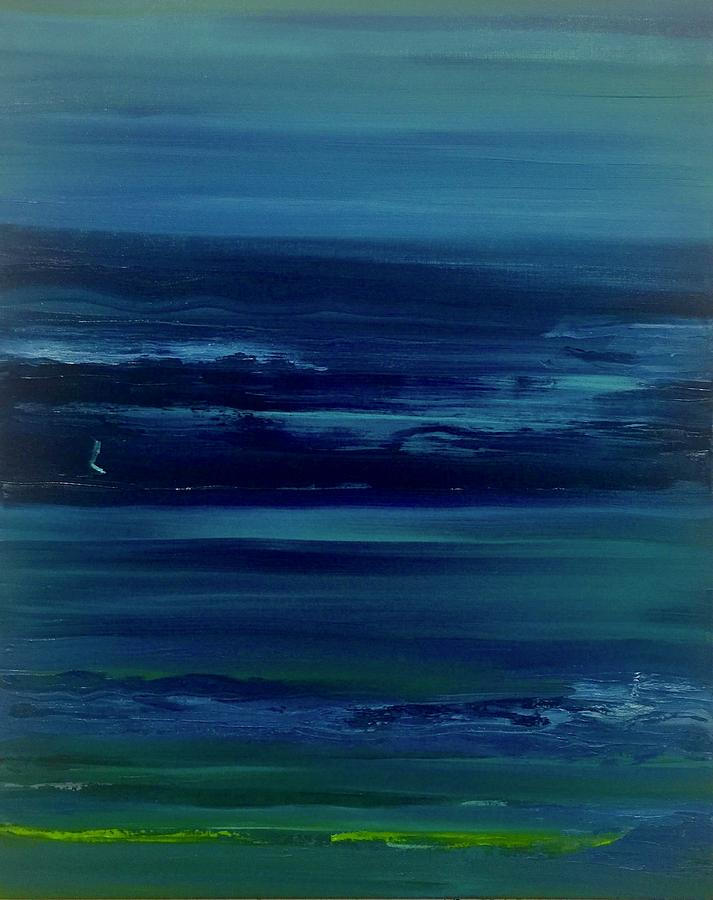 Blue Monochrome Painting by Alice Lipping