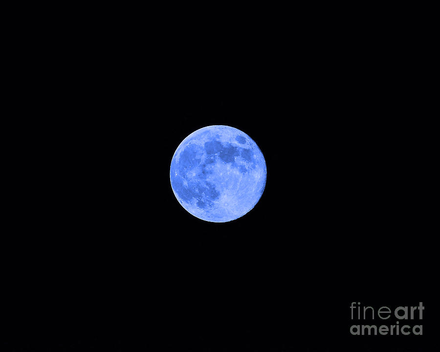 Moon Photograph - Blue Moon by Al Powell Photography USA