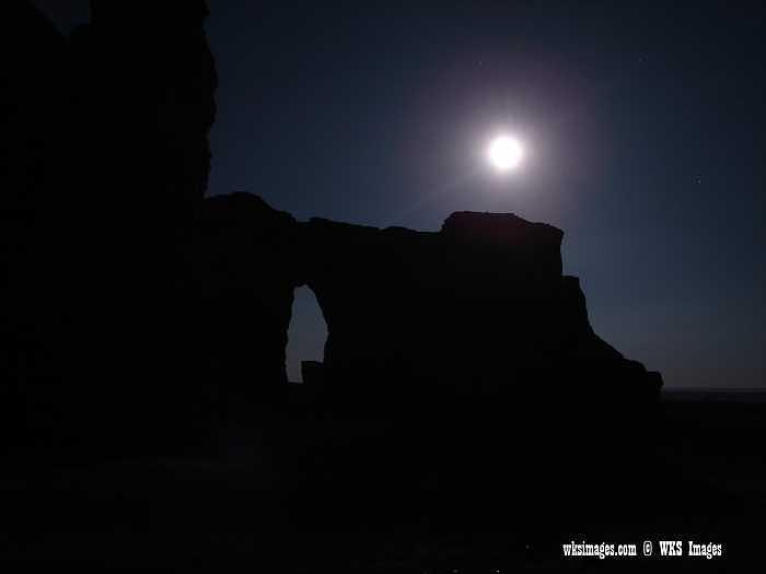 Monument Rocks Photograph - Blue Moon At Monument Rocks by Stan Hutchins