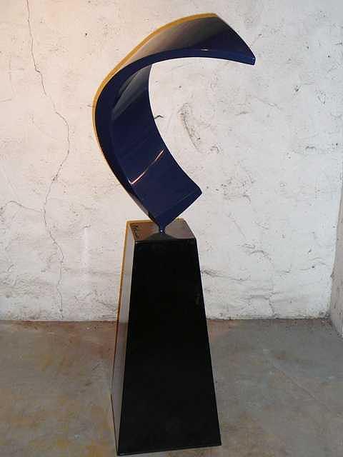 Blue Moon Sculpture by Jerry Schmidt