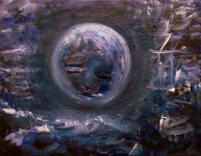 Blue Painting - Blue Moon by Sharon Wilfong
