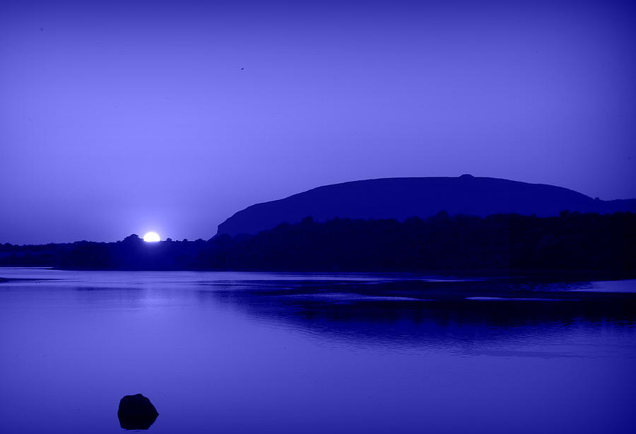 Mountain Photograph - Blue Moon by Val Robus