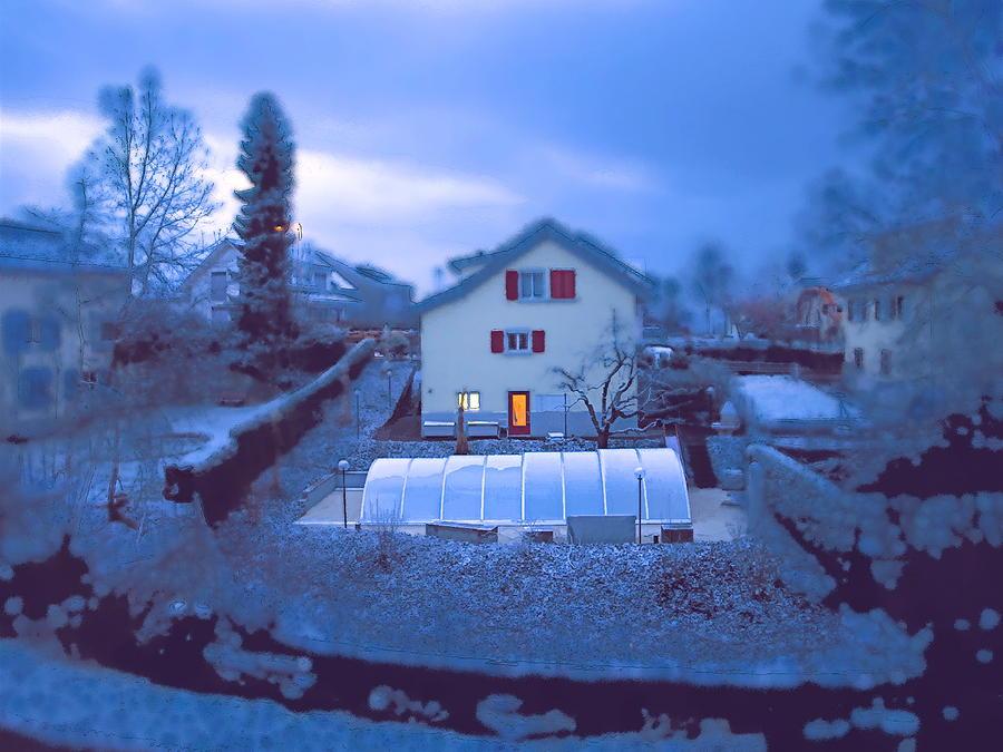 Landscape Photograph - Blue Morn by Chuck Shafer