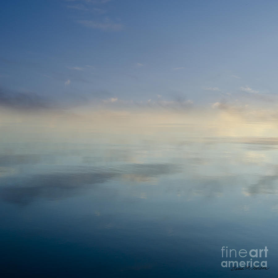Atmosphere Photograph - Blue Morning At Glendale by Dave Gordon