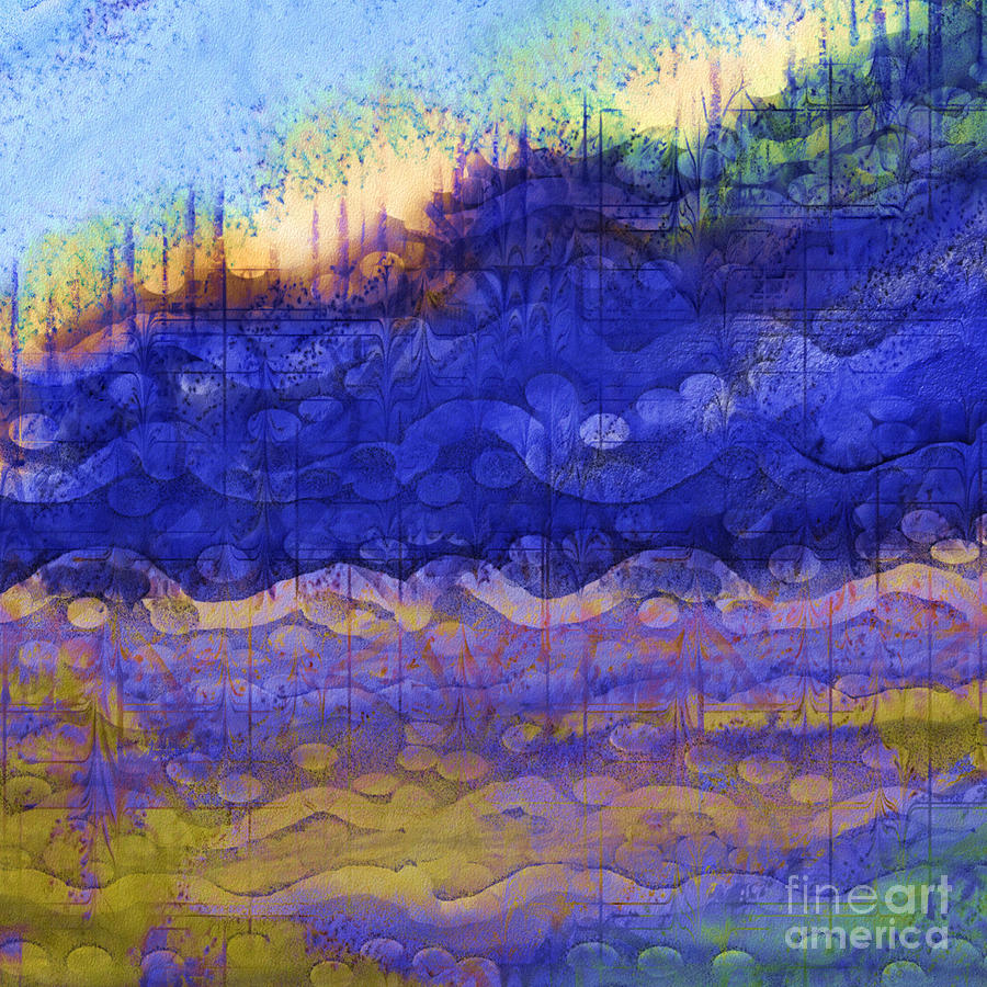 Nature Digital Art - Blue Mountain River by Sydne Archambault