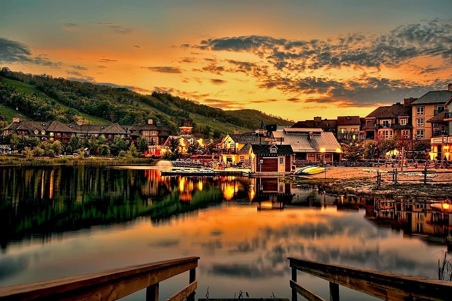 Village Photograph - Blue Mountain Village by Jeff S PhotoArt