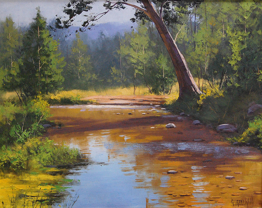 Coxs Painting - Blue Mountains Coxs River by Graham Gercken