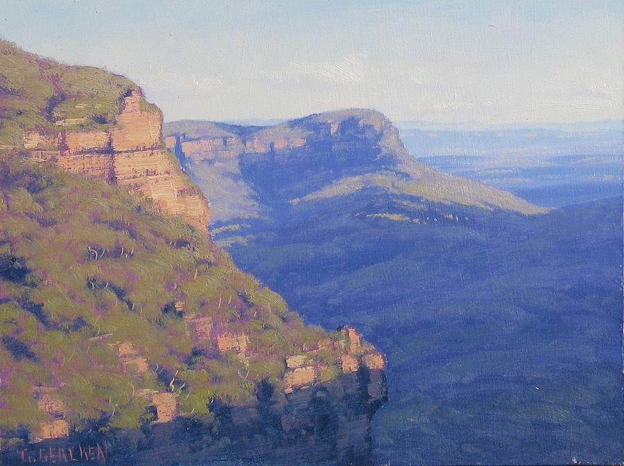 Blue Mountains Jamison Valley Painting by Gercken