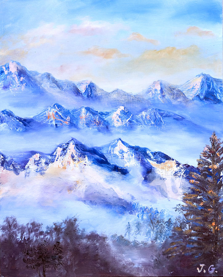 Mountains Painting - Blue Mountains by Jana Goode