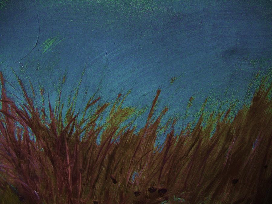 Blue Pond Painting - Blue by Nereida Slesarchik Cedeno Wilcoxon