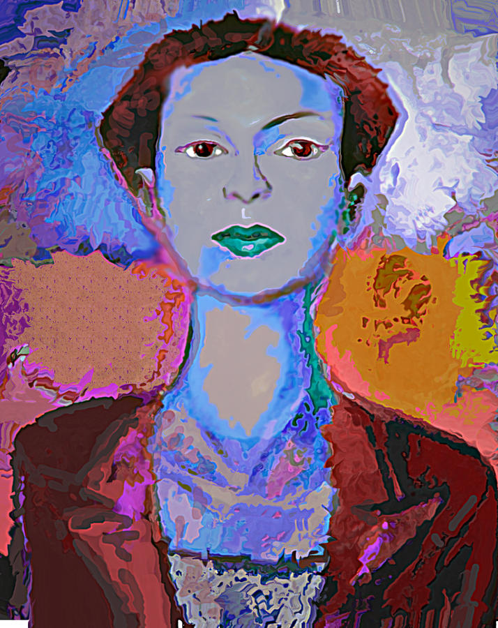 Portrait Mixed Media - Blue Nev by Noredin Morgan
