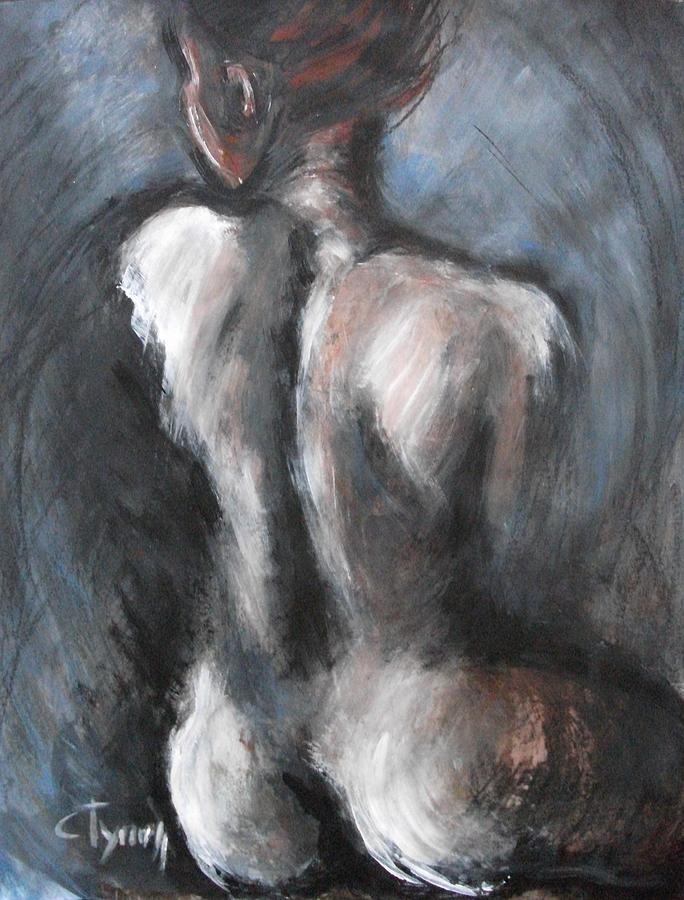 Blue Night - Nudes Gallery Painting by Carmen Tyrrell