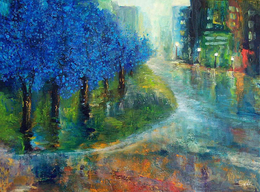 Blue Painting - Blue Noon by Laura Swink