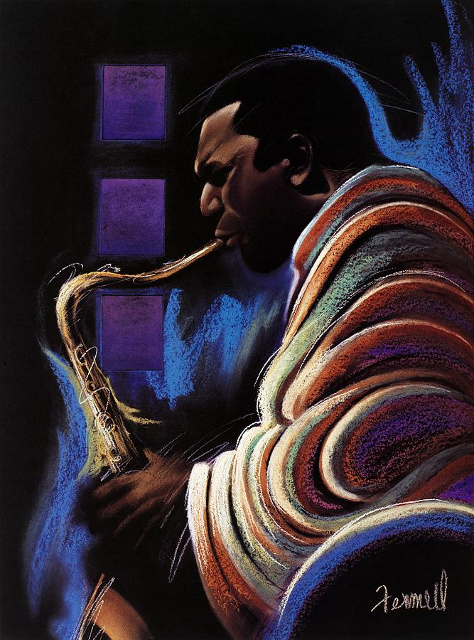 Sax Painting - Blue Note by Albert Fennell