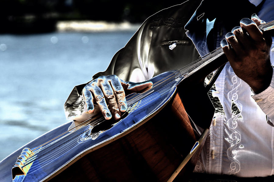 Guitar Digital Art - Blue Notes by Lyle  Huisken