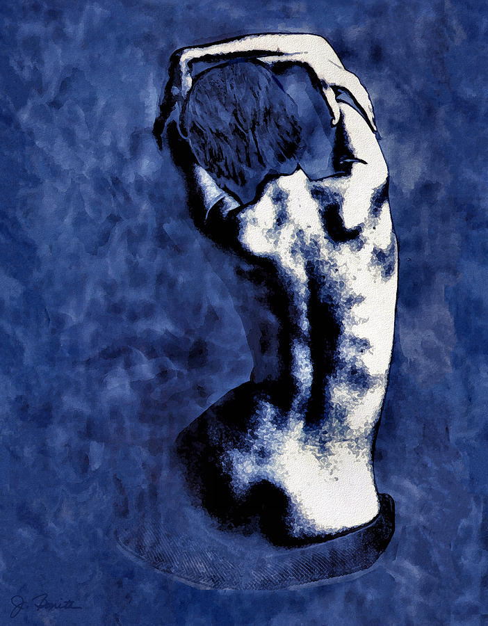 Blue Photograph - Blue Nude After Picasso by Joe Bonita