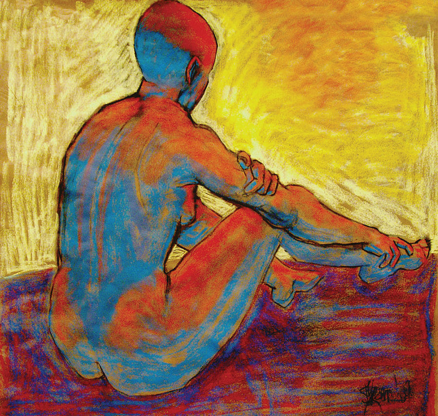 Blue Nude Painting - Blue Nude by Ilene Skeen