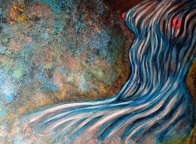 Blue Nude Painting - Blue Nude by Mickie Boothroyd