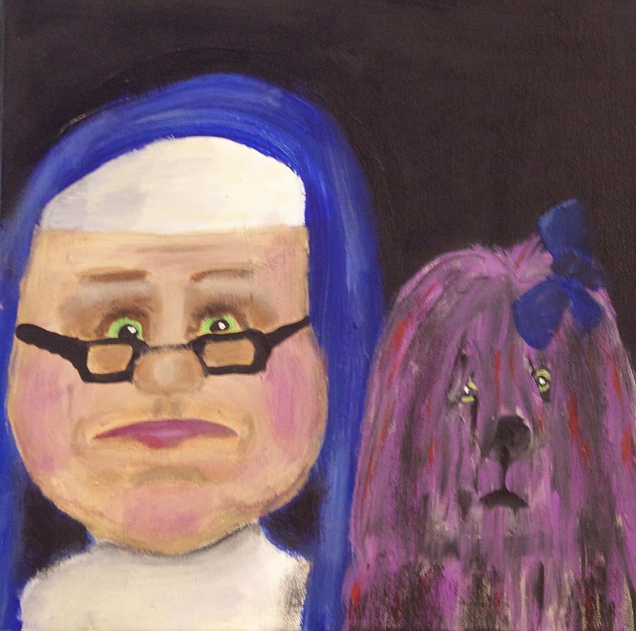 Blue Nun Purple Dog by Jan Dittmar