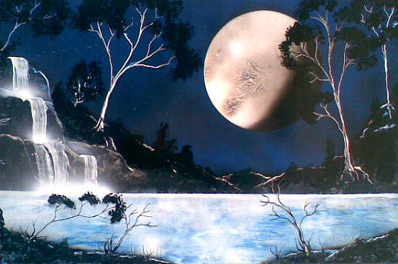 Landscape Painting - Blue Oasis by Jonathan Munden