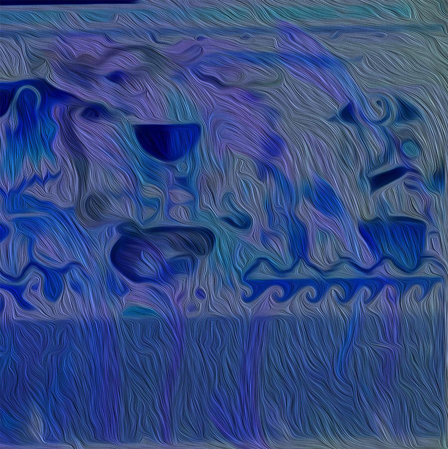 Blue Oil Blues Digital Art