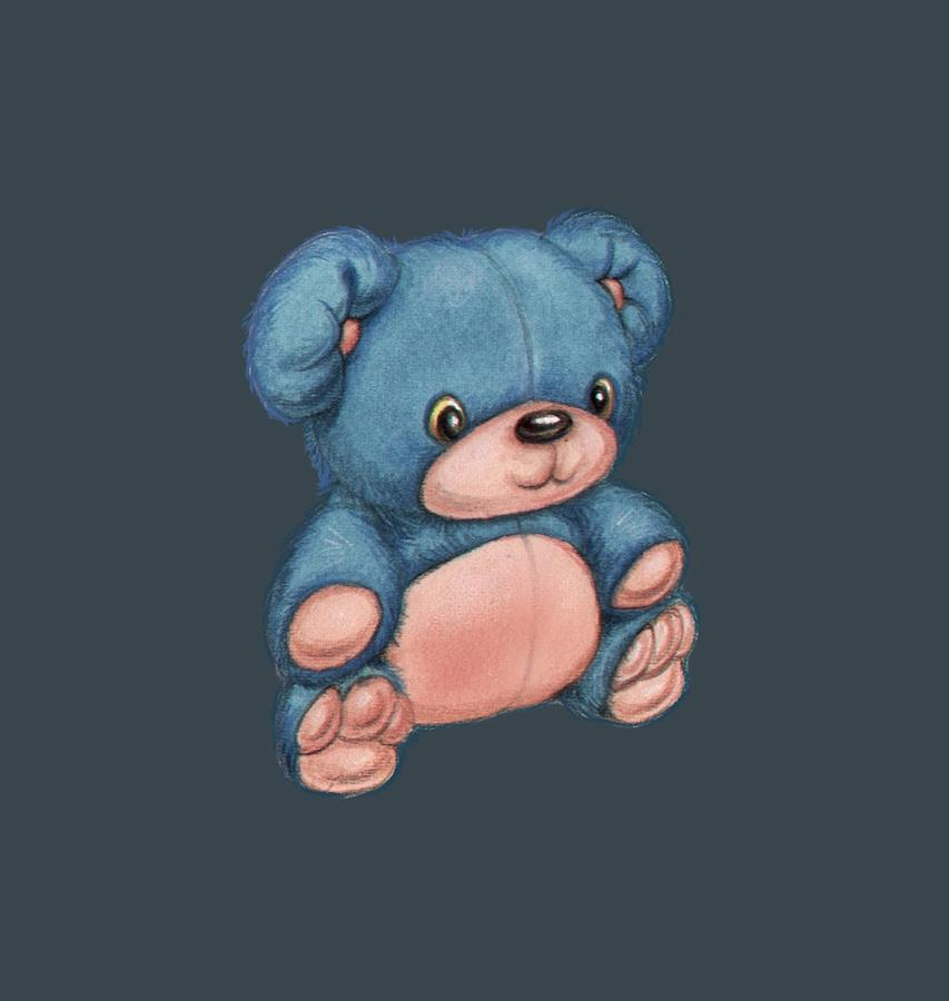 Blue Pink bear by Andy Catling