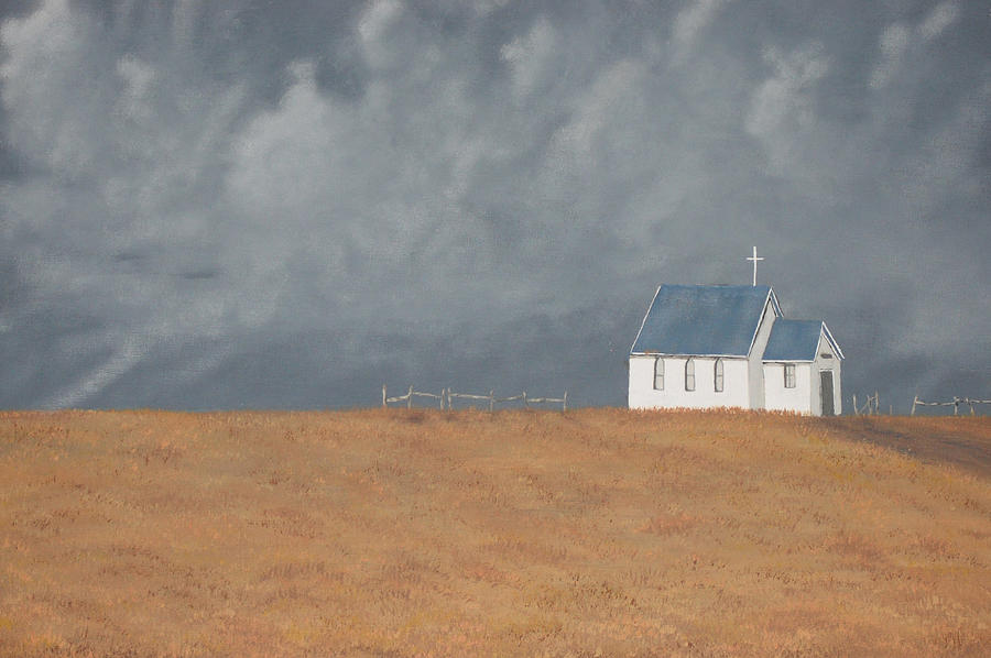 Church Painting - Blue Plains Church by Candace Shockley