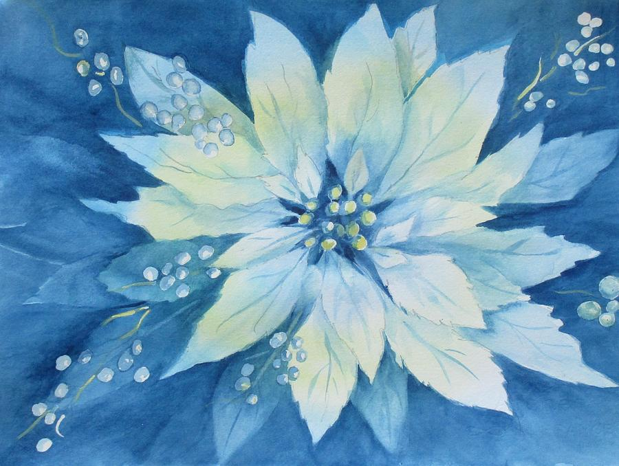 Blue Poinsettia by Patricia Ricci