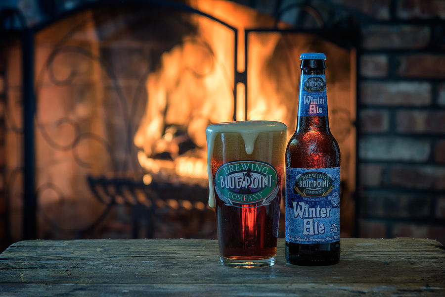 Beer Photograph - Blue Point Winter Ale By The Fire by Rick Berk