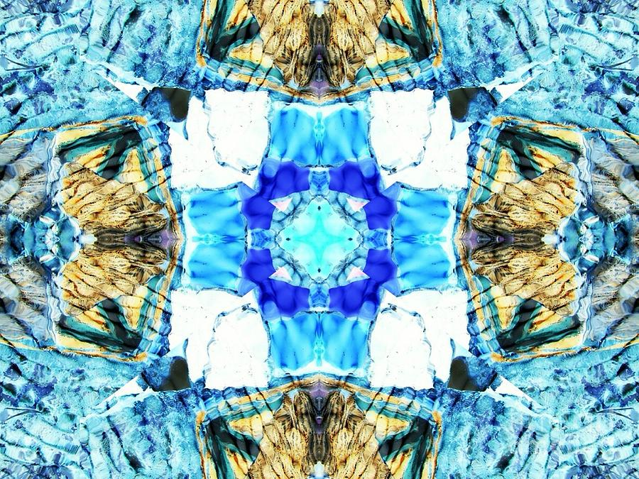 Abstract Digital Art - Blue Pool by Lorles Lifestyles
