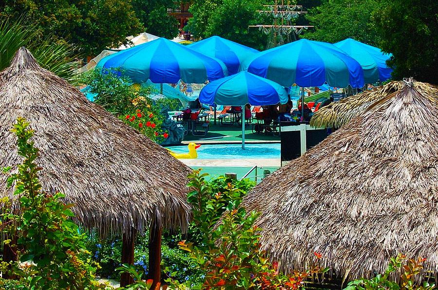 Blue Pool Umbrellas