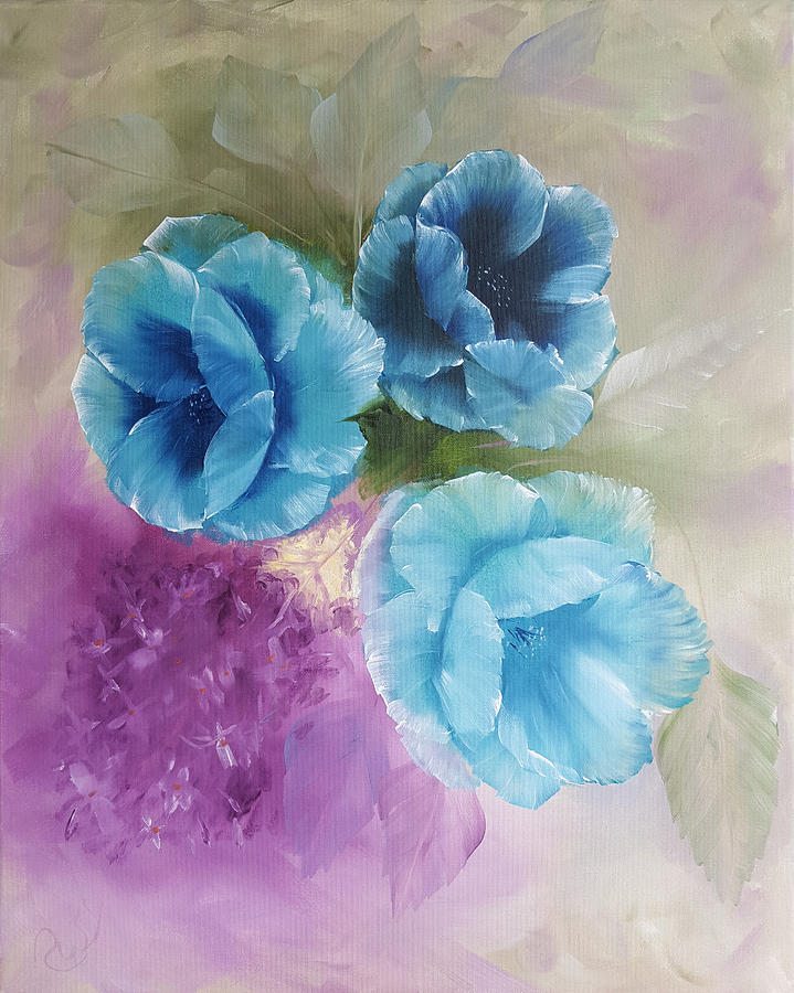 Blue Poppies by Russell Collins