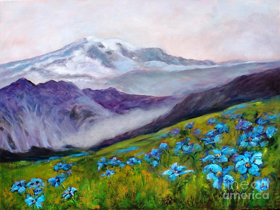 Blue Poppy Field by Wendy Ray