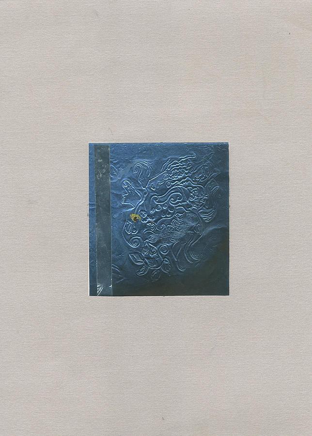 Blue Print Painting by Sana Horani