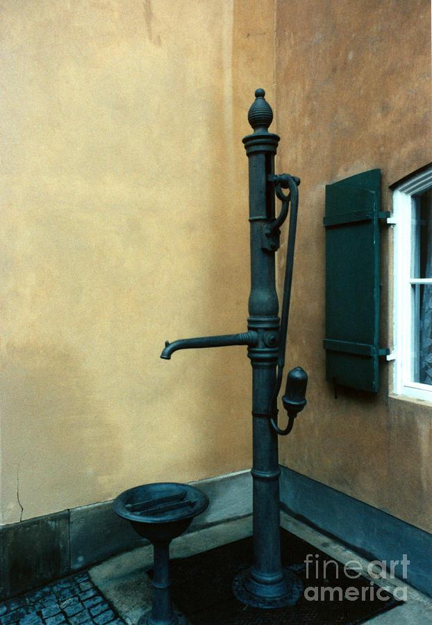 Pump Photograph - Blue Pump by Steve Rudolph