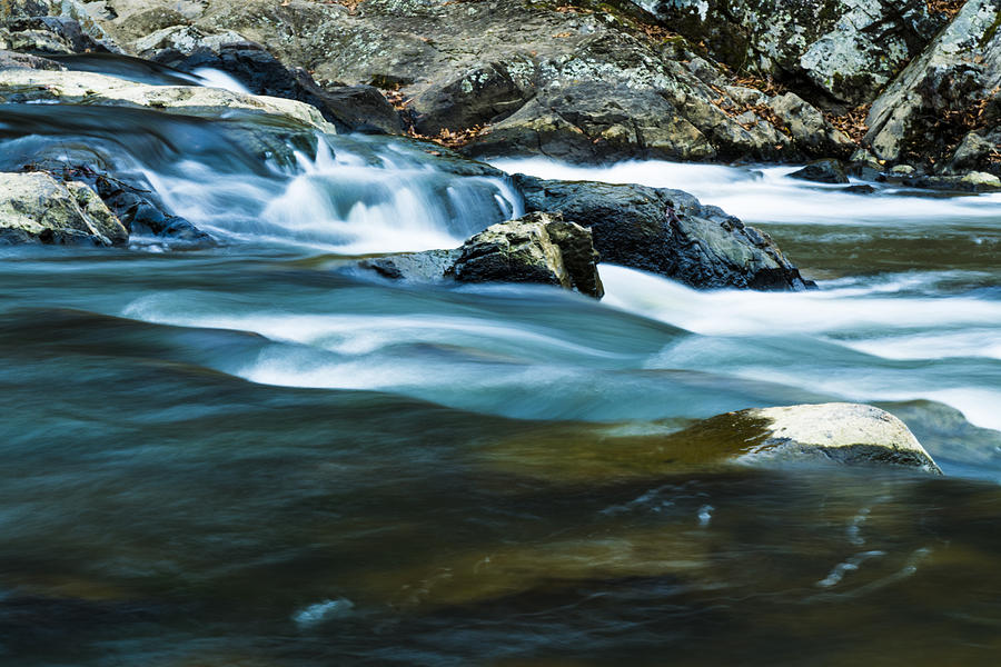 Natural Photograph - Blue Rapids by William Hall