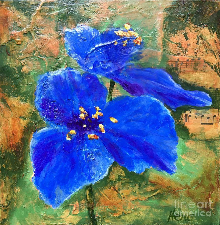 Blue Painting - Blue Rhapsody by Marcia Hero