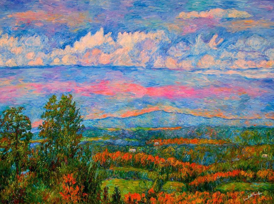 Mountains Painting - Blue Ridge Cloud Burst by Kendall Kessler