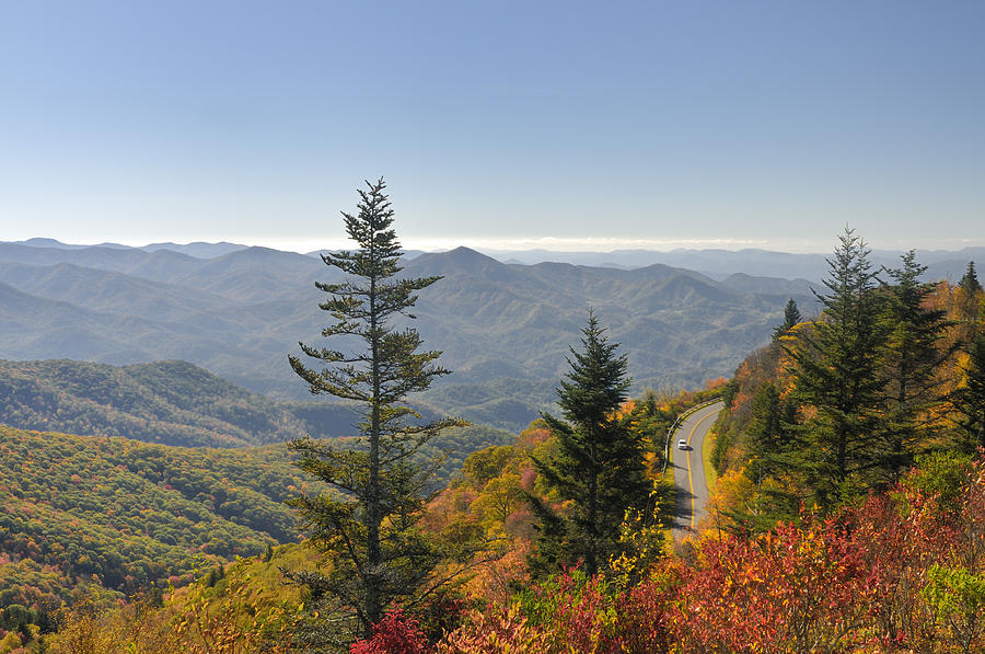Driving Photograph - Blue Ridge Drive by Darrell Young