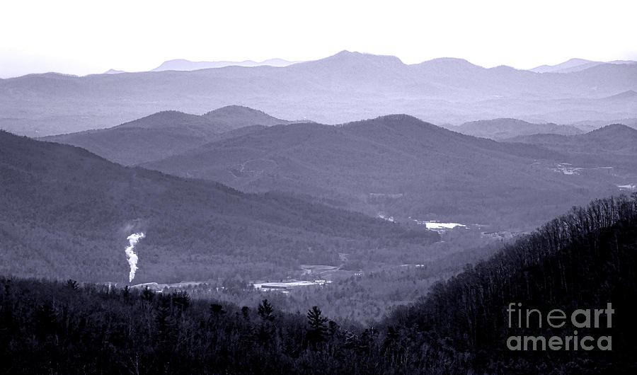 Blue Photograph - Blue Ridge Impression by Olivier Le Queinec