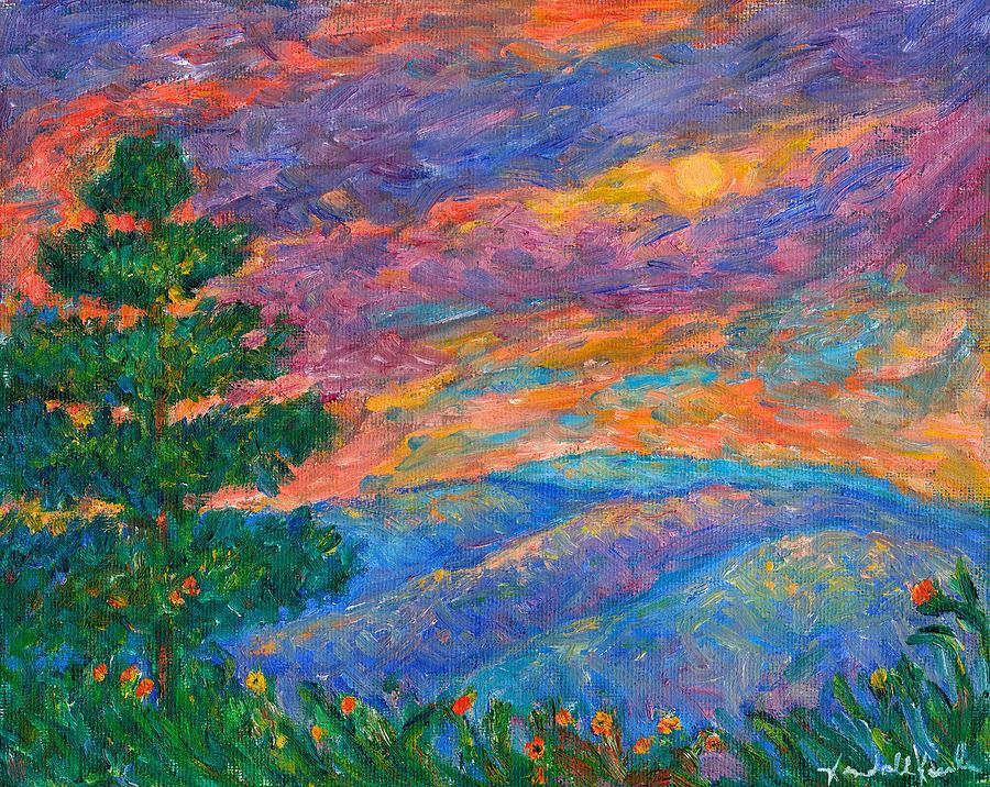 Mountains Painting - Blue Ridge Jewels by Kendall Kessler