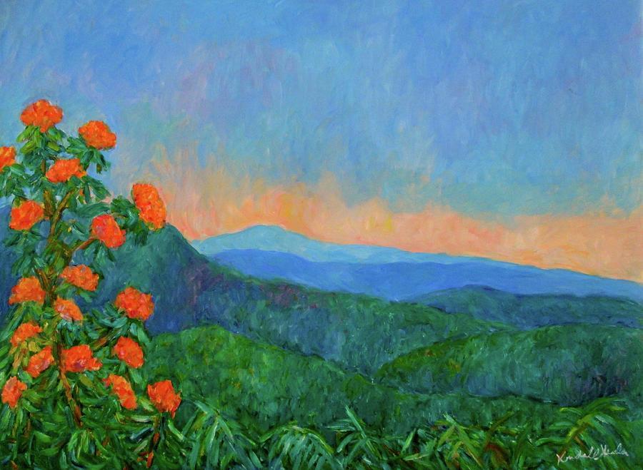 Landscape Painting - Blue Ridge Morning by Kendall Kessler