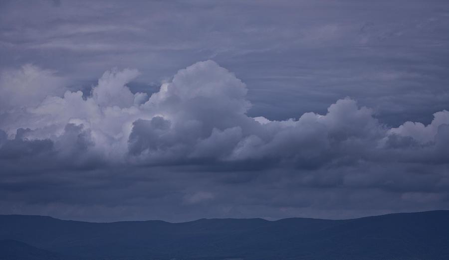 Storm Photograph - Blue Ridge Mountain Storm In Virginia by Teresa Mucha