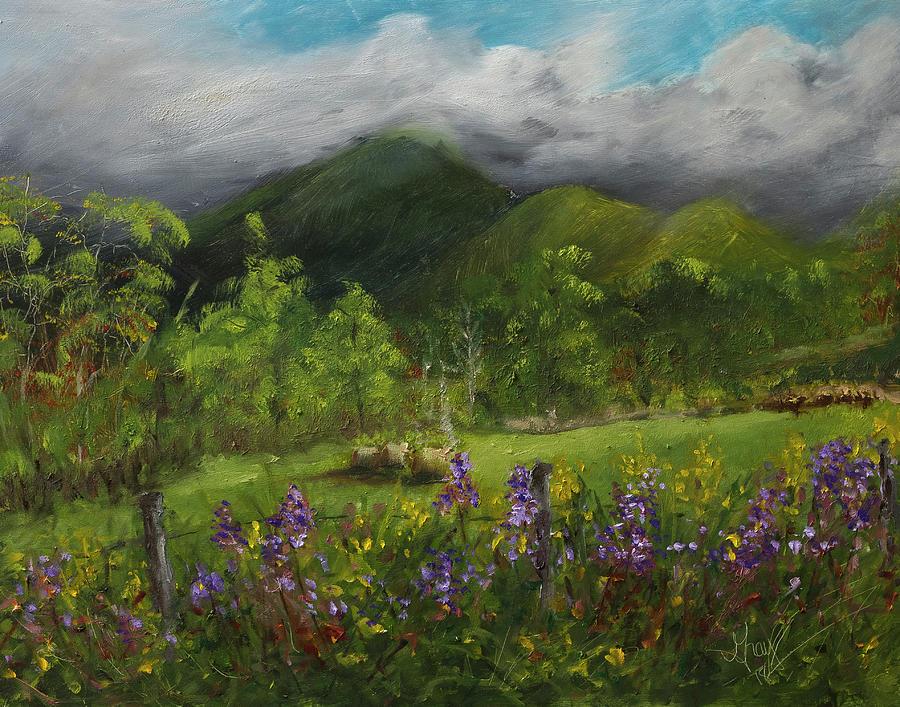 Blue Ridge Mountain Summer Landscape Painting Painting