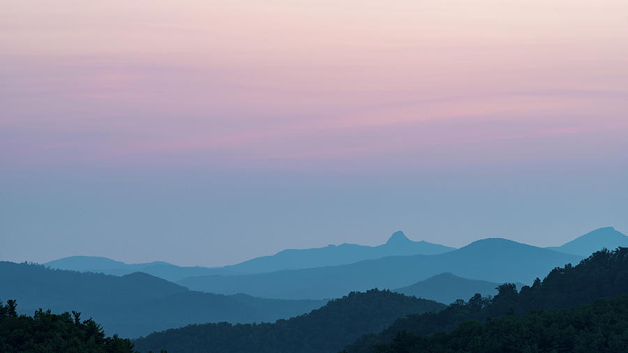 Blue Ridge Parkway Photograph - Blue Ridge Mountains After Sunset by Mike Koenig