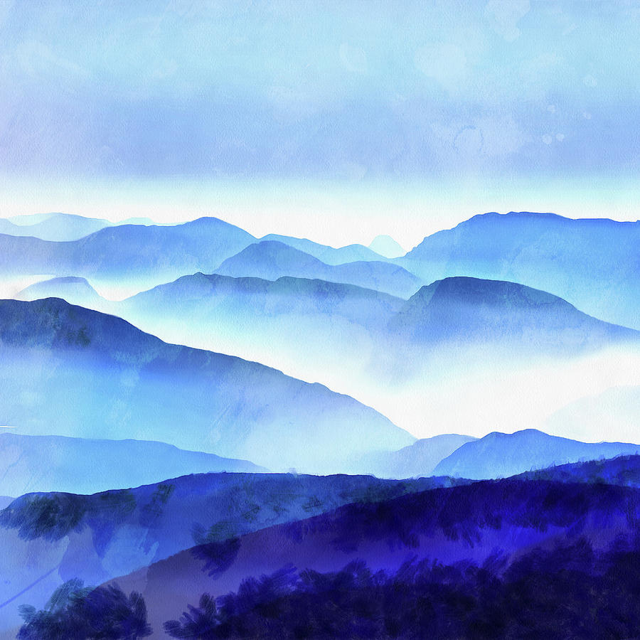Painting Photograph - Blue Ridge Mountains by Edward Fielding